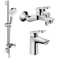 Набор смесителей Hansgrohe для ванной Logis Loop (71150000 + 71244000 + 26553400)