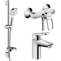 Набор смесителей Hansgrohe для ванной Logis Loop (71150000 + 71247000 + 26553400)