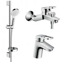 Набор смесителей Hansgrohe для ванной Logis Loop (71151000 + 71244000 + 26553400)