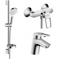 Набор смесителей Hansgrohe для ванной Logis Loop (71151000 + 71247000 + 26553400)