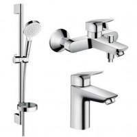 Набор смесителей Hansgrohe для ванной Logis (71100000 + 71400000 + 26553400)