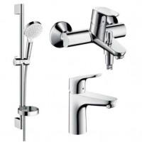 Набор смесителей Hansgrohe для ванной Focus (31607000 + 31940000 + 26553400)