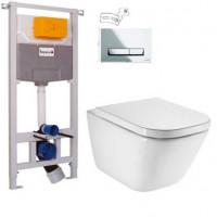 Комплект GAP Rimless унитаз и инсталляция Imprese 3в1