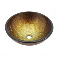 Золотисто-коричневая стеклянная раковина Kraus GV-690-19mm