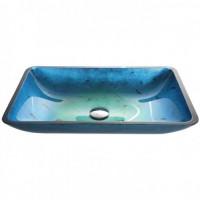 Голубая стеклянная раковина Kraus GVR-204-RE-15mm