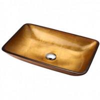 Золотистая стеклянная раковина Kraus GVR-210-RE-15mm