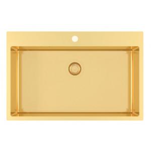 Кухонная мойка AQUASANITA Aira AIR 100M-G (Золото)