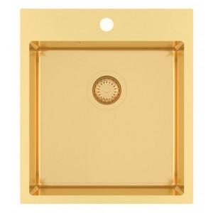 Кухонная мойка AQUASANITA Aira AIR 100X-G (Золото)