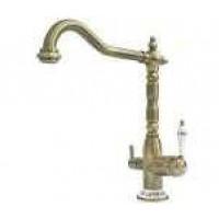 Кухонный смеситель Fabiano FKM 31.4 Brass Antique / Inox Antique