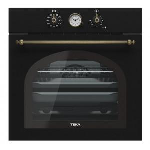 """Духовой шкаф TEKA HRB 6300 AT (WISH, Rustica) черный, ручки """"латунь"""""""