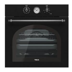 """Духовой шкаф TEKA HRB 6300 ATS (WISH, Rustica) черный, ручки """"затемненное серебро"""""""