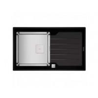Кухонная мойка Teka Diamond 1B 1D 86 (115100011) черное стекло